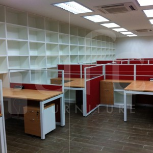 custom design office work station with layered cabinets in sg