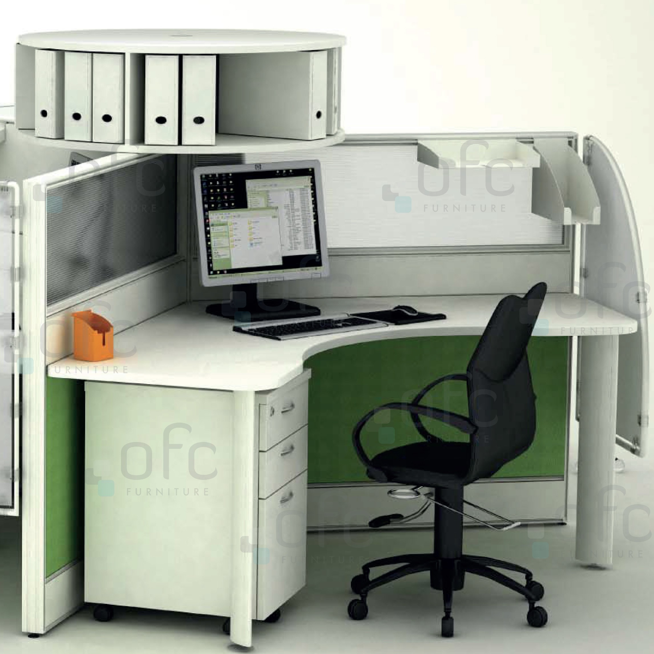 Sophisticated Cable Management Office Furniture System