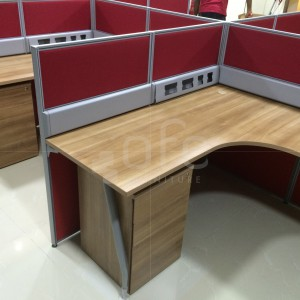 angled office workstation furniture in singapore