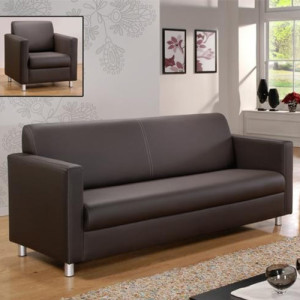 Brown leather sofa from office furniture supplier Singapore