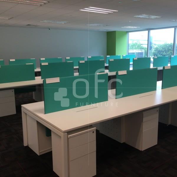 minimalistic office workstation furnitur