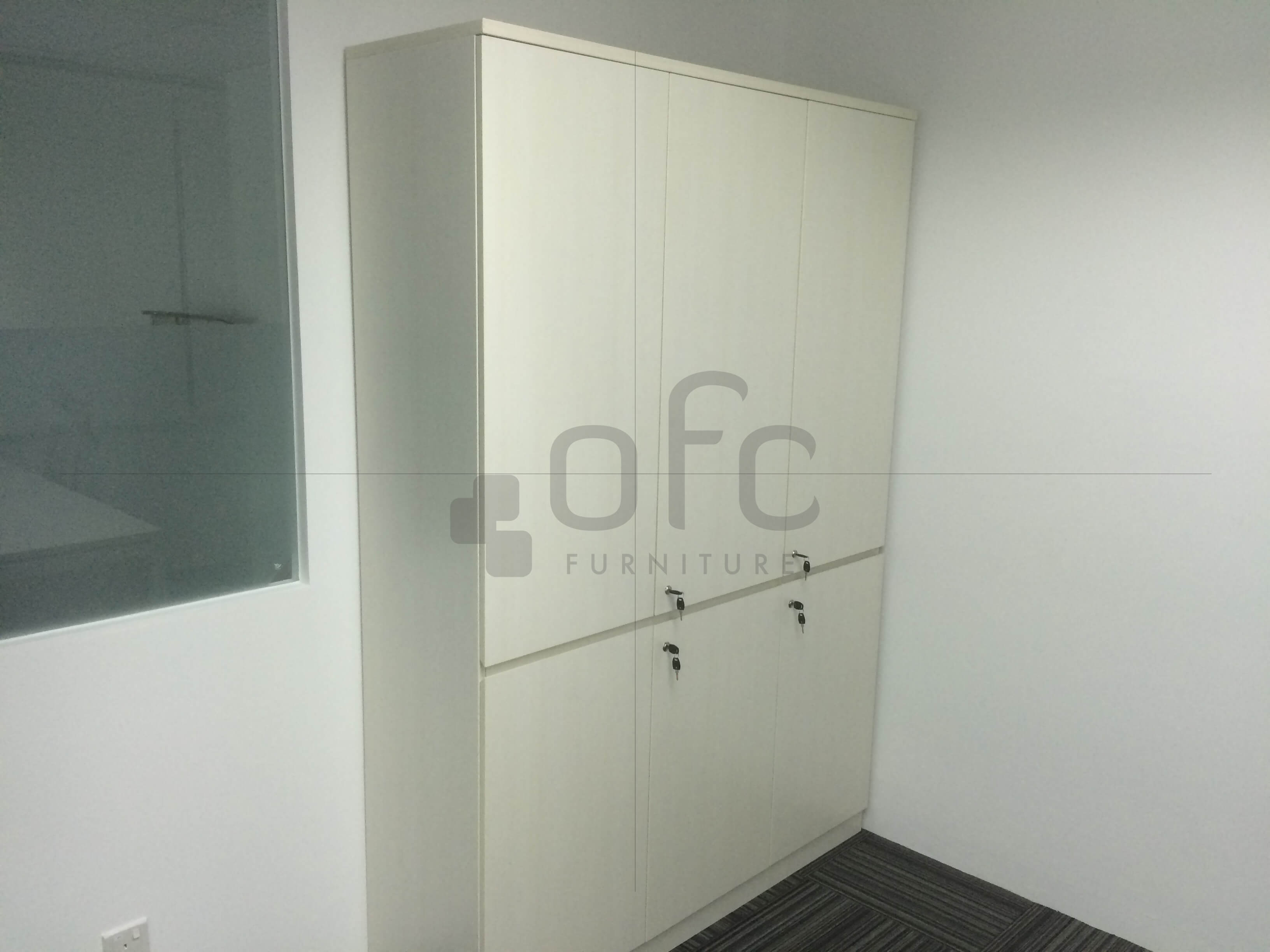 corner area built in office cabinet sg