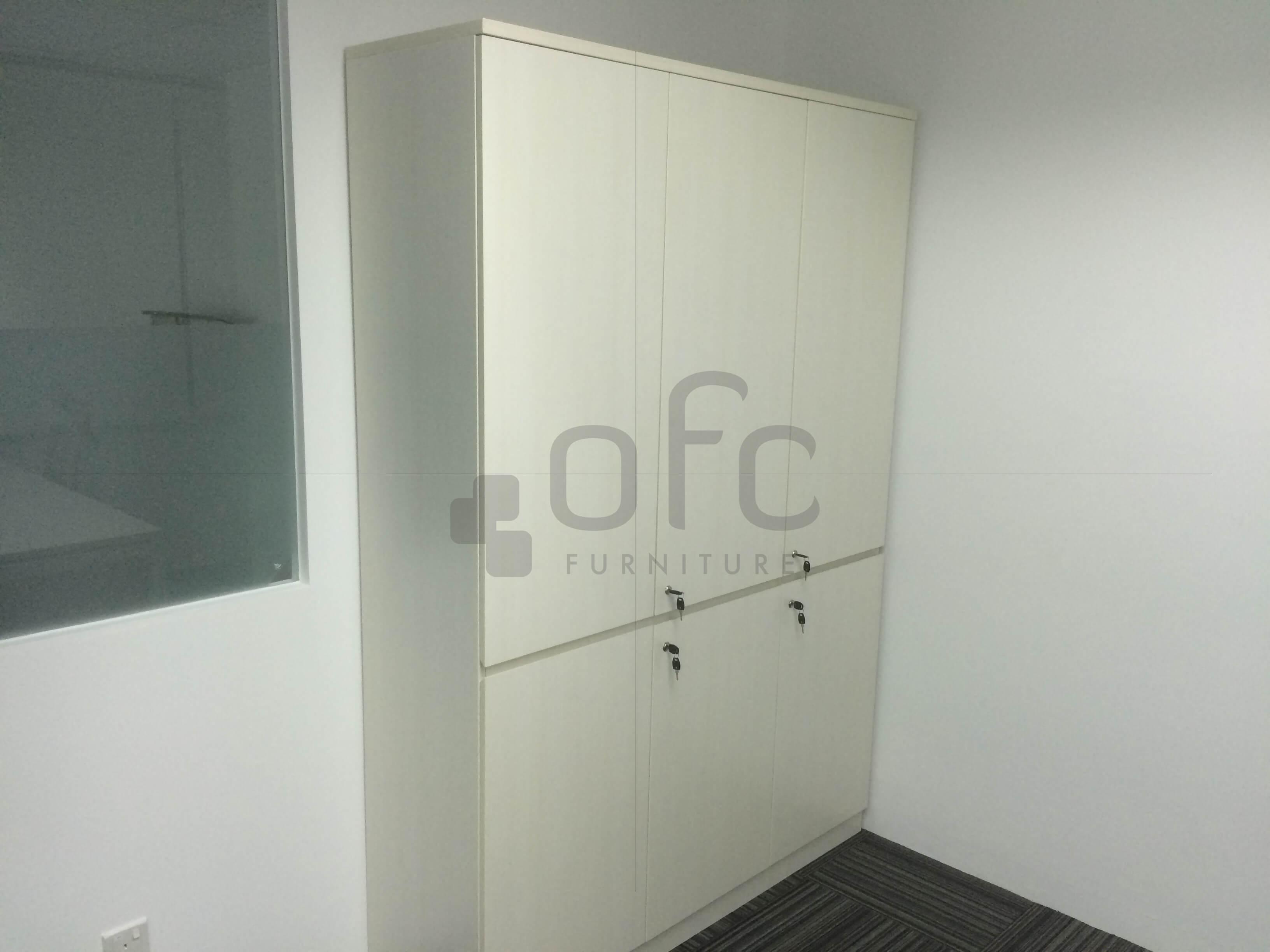 corner area built in office cabinet sg